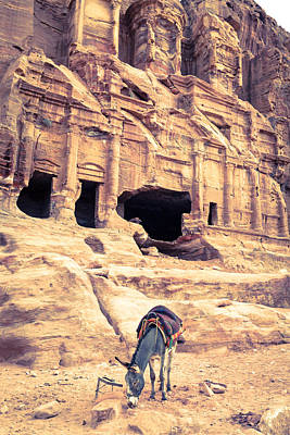 Nabatean Photograph - Petra by Alexey Stiop
