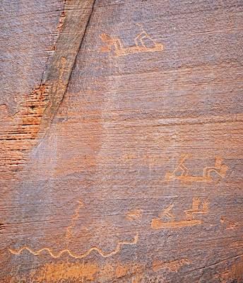 Carving Photograph - Petroglyphs by Bildagentur-online/mcphoto-schulz