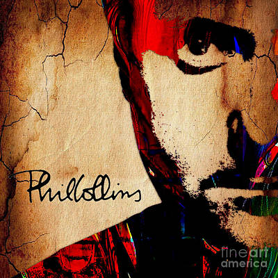 Drum Mixed Media - Phil Collins Collection by Marvin Blaine