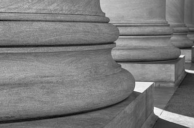 Law Photograph - Pillars In Black And White by Brandon Bourdages