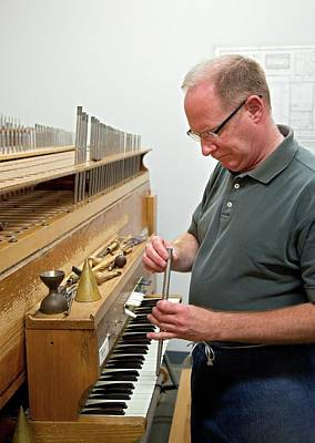 Hand Made Photograph - Pipe Organ Factory by Jim West
