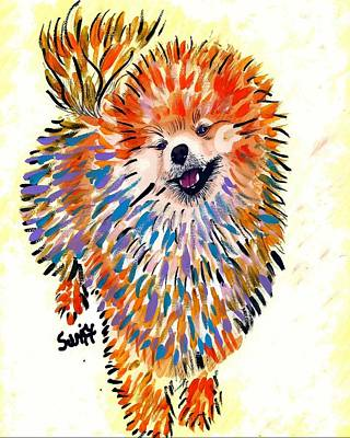 Pomeranian Painting - Pomeranian by Char Swift