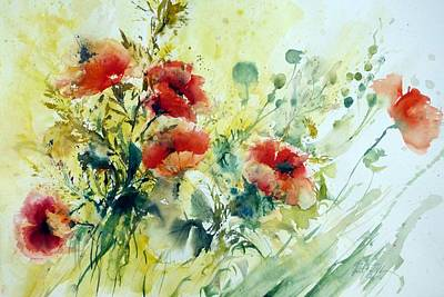 Painting - Poppies by Christa Friedl