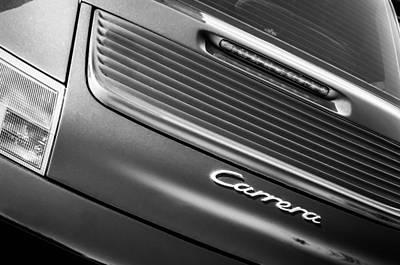 Porsche Carrera Photograph - Porsche Carrera Rear Emblem by Jill Reger