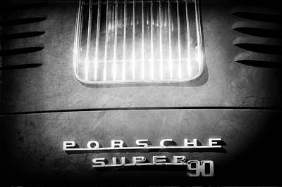 Photograph - Porsche Super 90 Tail Emblem by Jill Reger