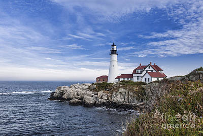 Keepers House Photograph - Portland Head Lighthouse by John Greim