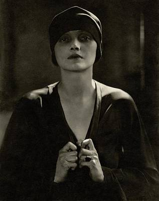 Cloche Hat Photograph - Portrait Of Katharine Cornell by Edward Steichen