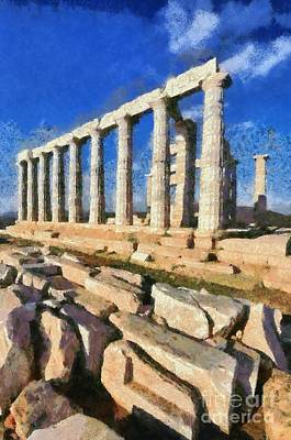 Antiquities Painting - Poseidon Temple by George Atsametakis
