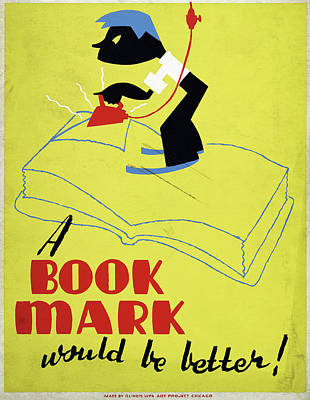 Bookmarks Wall Art - Drawing - Poster Books, C1938 by Granger