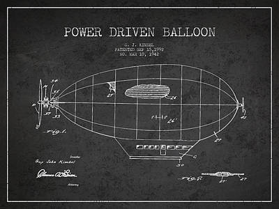 Balloon Digital Art - Power Driven Balloon Patent by Aged Pixel