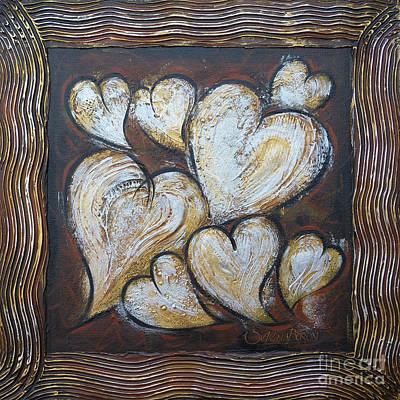 Art Print featuring the painting Precious Hearts 301110 by Selena Boron