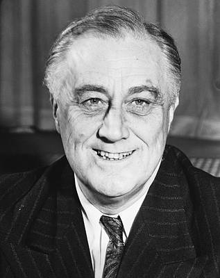 Photograph - President Franklin Roosevelt by Underwood Archives