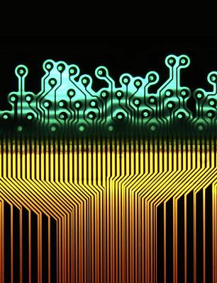Printed Circuit Art Print
