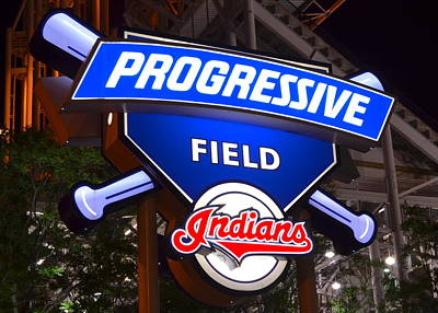 Cy Young Photograph - Progressive Field by Frozen in Time Fine Art Photography