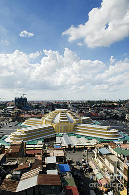 Winter Animals Rights Managed Images - Psar Thmei Central Market In Phnom Penh Cambodia Royalty-Free Image by JM Travel Photography