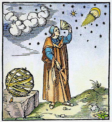 Cosmology Painting - Ptolemy (2nd Century by Granger