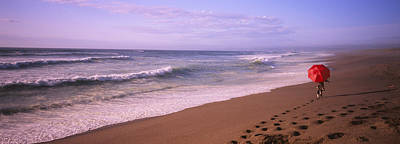 Point Reyes National Seashore Photograph - Rear View Of A Woman Walking by Panoramic Images
