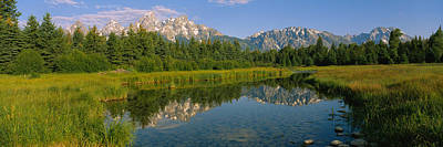 Reflection Of A Mountain In A Lake Art Print by Panoramic Images