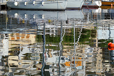 Sail Painting - Reflections In Mikrolimano Port by George Atsametakis