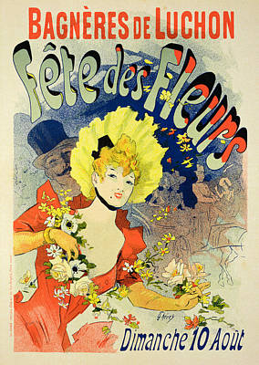 Reproduction Of A Poster Advertising Art Print by Jules Cheret