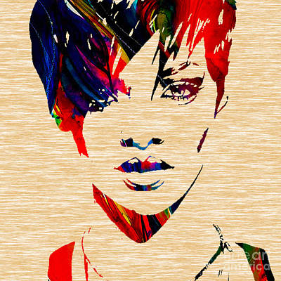 Rihanna Mixed Media - Rhianna by Marvin Blaine