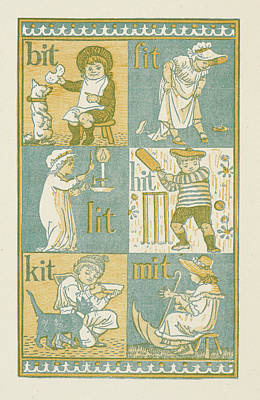 Walter Crane Photograph - Rhyming Words Ending In The Letter T by British Library
