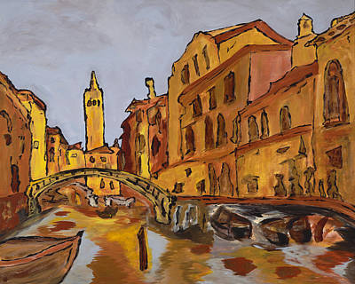 Painting - Rialto by Oscar Penalber