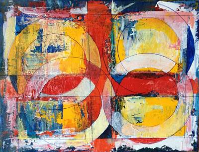 4 Rings 4 Squares Art Print by Mark Opdahl