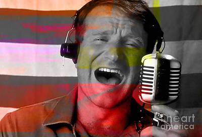 Mixed Media - Robin Williams Good Morning Vietnam by Marvin Blaine