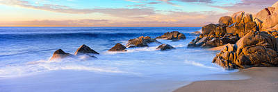 Rock Formations On The Beach Art Print