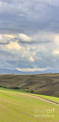 Rolling Hills Of Val D'orcia Tuscany Italy Print by Robert Leon