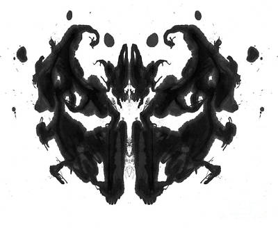 Psychological Photograph - Rorschach Type Inkblot by Spencer Sutton