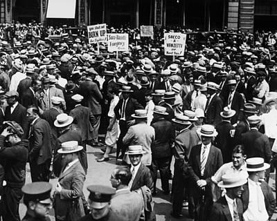 Anti Immigrant Photograph - Sacco And Vanzetti, 1927 by Granger