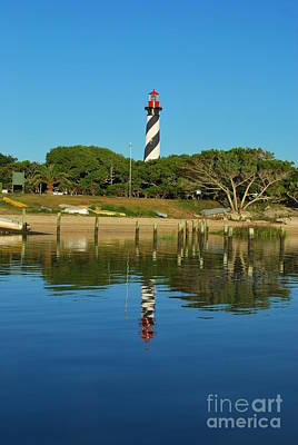 Photograph - Saint Augustine Lighthouse Reflection by Bob Sample