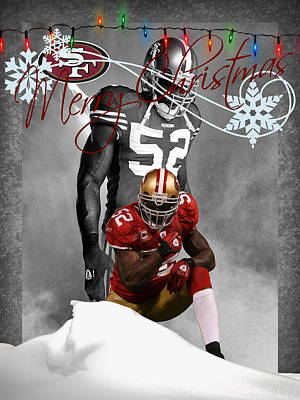 San Francisco 49ers Christmas Card Art Print by Joe Hamilton