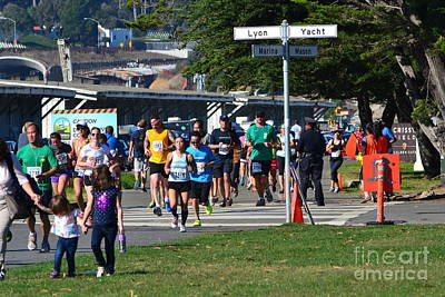Photograph - San Francisco Bridge-to-bridge 12k Run by Dean Ferreira