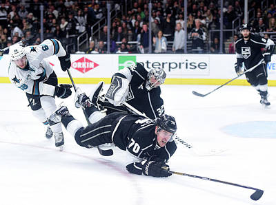 Los Angeles Kings Photograph - San Jose Sharks V Los Angeles Kings - by Harry How