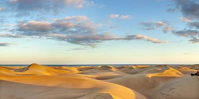 Sand Dunes In A Desert, Maspalomas Art Print by Panoramic Images