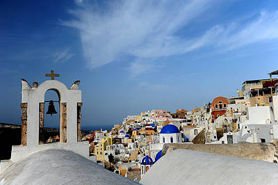 Art Print featuring the photograph Santorini Greece by John Jacquemain