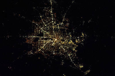 Photograph - Satellite View Of Houston, Texas, Usa by Panoramic Images