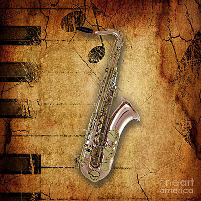 Sax Mixed Media - Saxophone Collection by Marvin Blaine