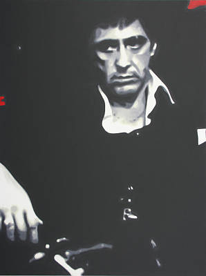 Justice Painting - Scarface 2013 by Luis Ludzska