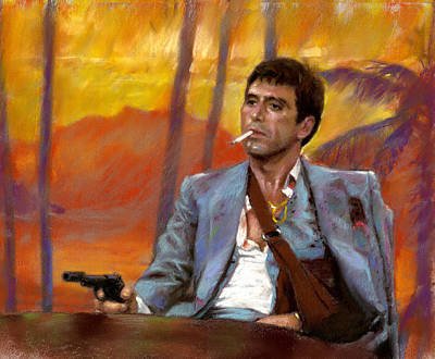 Art Print featuring the drawing Scarface by Viola El