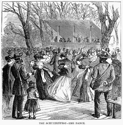 Philadelphia Drawing - Schutzenfest, 1868 by Granger