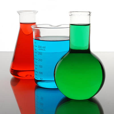 Flasks Photograph - Science Of Color by Jim Hughes