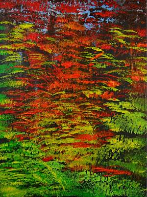 Art Print featuring the painting 4 Seasons Fall by P Dwain Morris