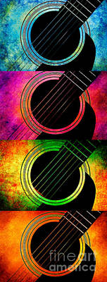 Photograph - 4 Seasons Guitars Vertical Panorama by Andee Design
