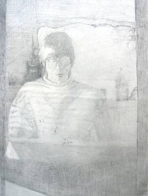 Drawing - Self Portrait by Anita Dale Livaditis
