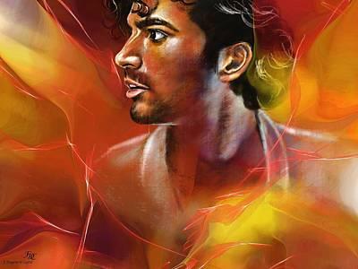 Actor Digital Art - Sendhil by Francoise Dugourd-Caput