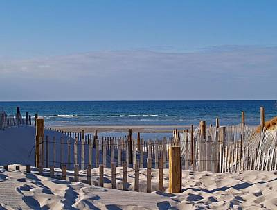 Mayflower Beach Photograph - Shades Of Blue by Mark Beliveau